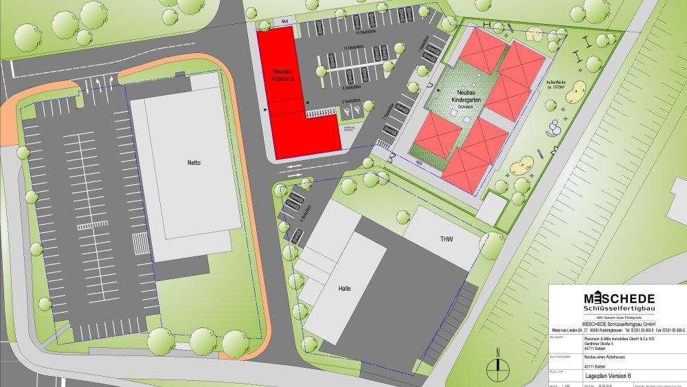 Planung eines Ärztehauses und einer Kindertagesstätte in Datteln