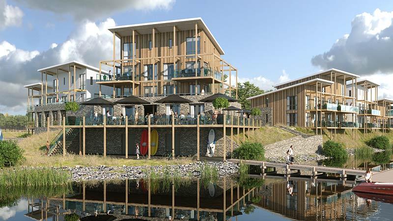 Außenansicht Marina Resort Leukermeer Niederlande Realisierung durch R2B Finanzmanufaktur und Immobilien Duis