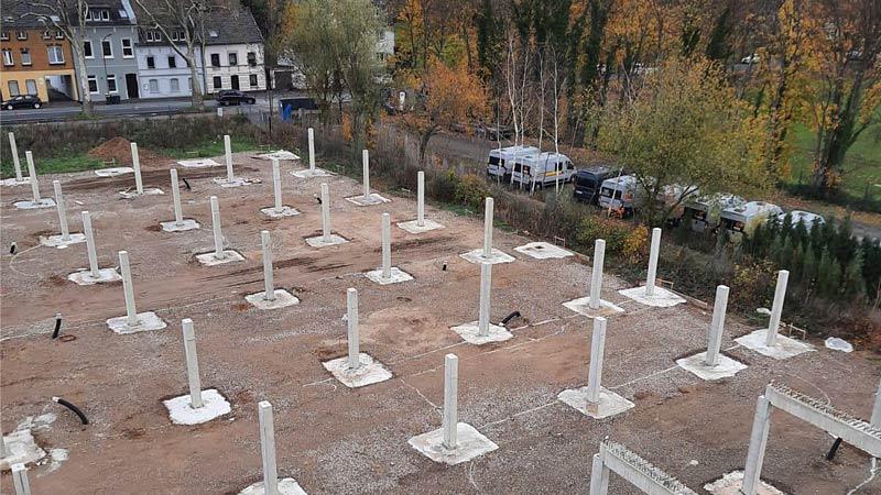 Vogelperspektive Bau MEGA-Garagenpark Köln durch R2B Finanzmanufaktur